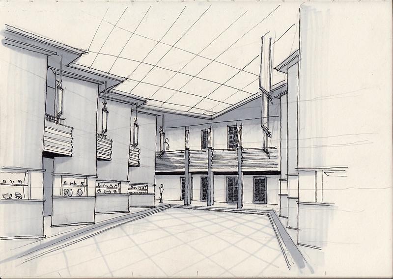 Leipzig, Grassimuseum, Pfeilerhalle (1925–29)