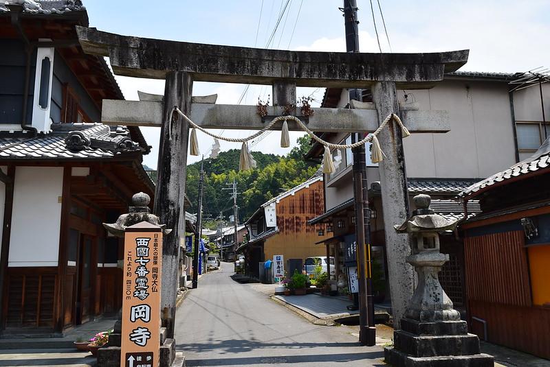岡寺参道入り口