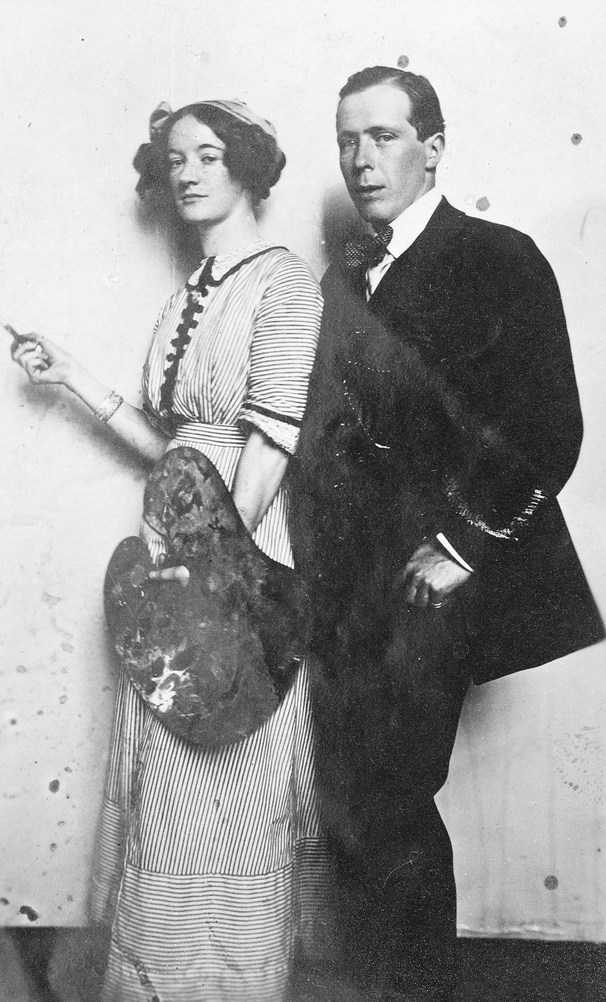 Mrs Joseph Plunkett and Sir William Orpen