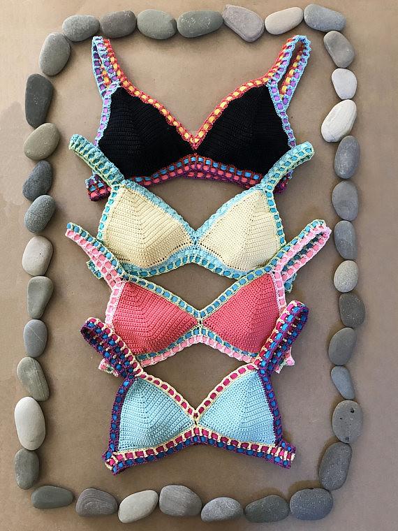 Crochet Bikini Pattern Malibu Bikini Boho Multi Color Flickr