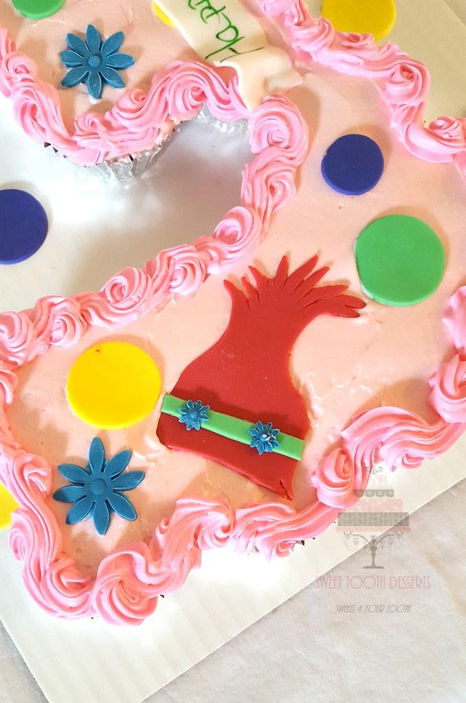 Troll Birthday Cupcake Cake