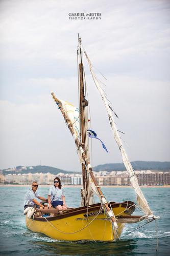 Hissant veles a la bocana del port