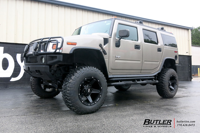 Hummer H2 with 20in Grid Off-Road GD4 Wheels and BF Goodrich Tires with 6in Fabtech Lift