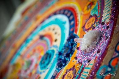 Detail on Chakra Mandala