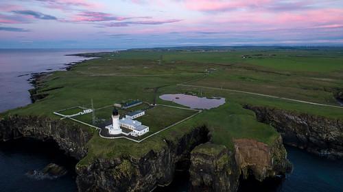 caithness lighthouse dji inspire coast scotland sea cliffs