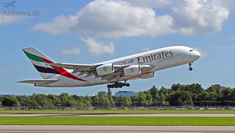 A6-EUB Emirates Airbus A380-861