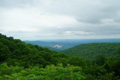 stone mountain mahogany rock overlook blue ridge parkway north carolina
