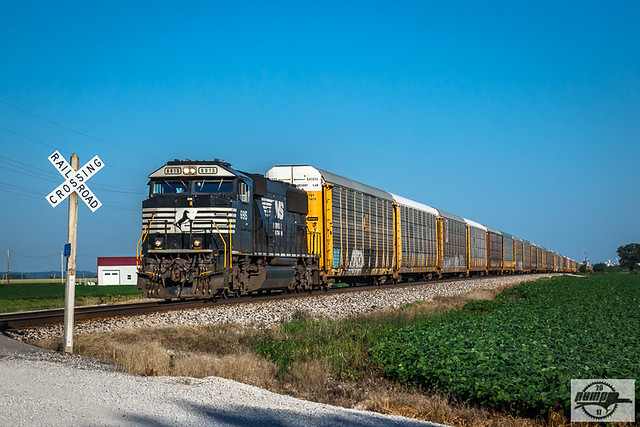 Eastbound NS Auto Train at Orrick, MO