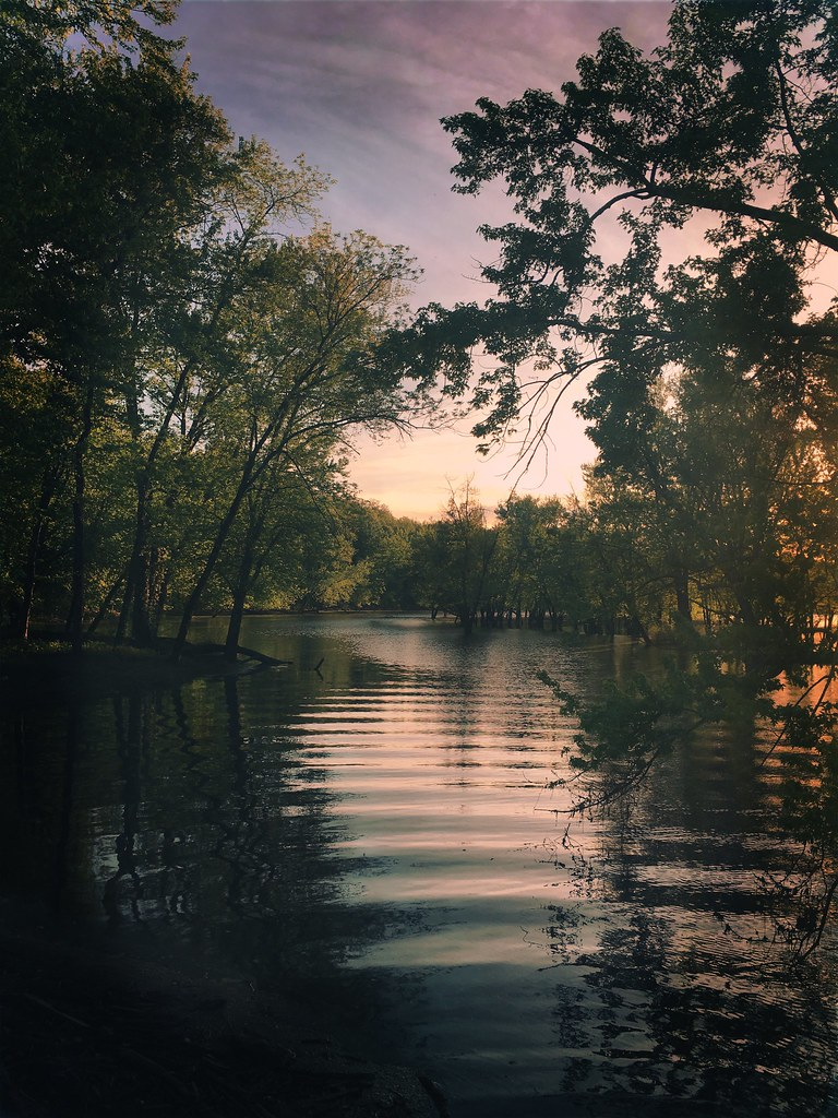 The Oxbow, Northampton MA in the golden hour | iPhone photo