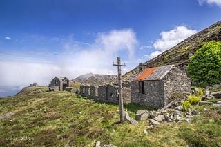Abandoned quarry cottages, Llanfairfechan
