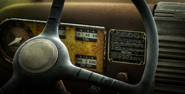 Old Ford dashboard