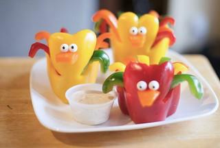 Bell pepper Chicks with Yogurt Ranch | by healthiermi