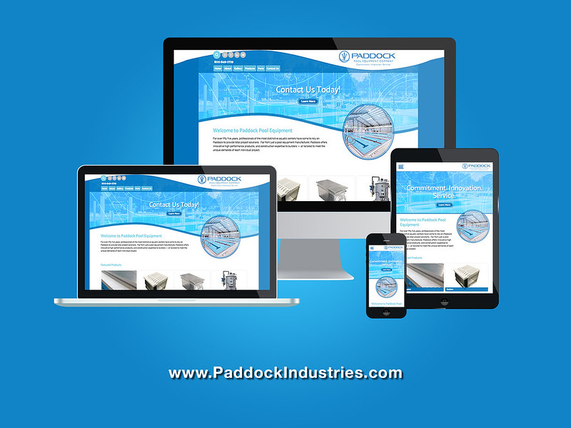 Paddock Pools Responsive Website Design