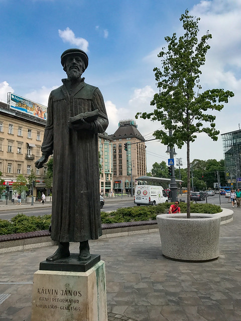 Statue of John Calvin in Budapest