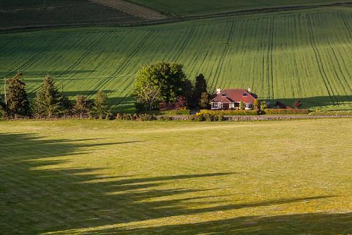 aberdeenshire dunnydeer insch scotland alba garioch shadows sunset unitedkingdom