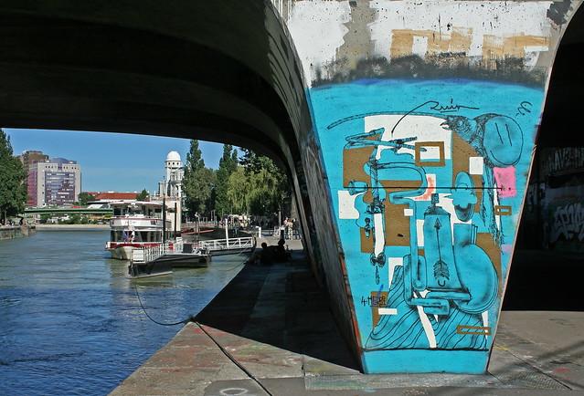 Am Donaukanal (unter der Schwedenbrücke)