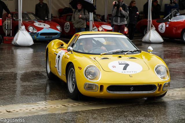 1964 Ferrari 250LM in the rain of Spa-Francochamps