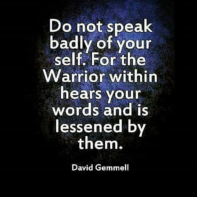 Be careful of what you say to yourself because you are lis ...