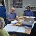 Our volunteers preparing our latest newsletter