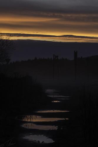 harz steig stieg altenau niedersachsen duitsland de sunrise zonsopgang zonsopkomst ochtend ochtendrood wolken clouds morning red early