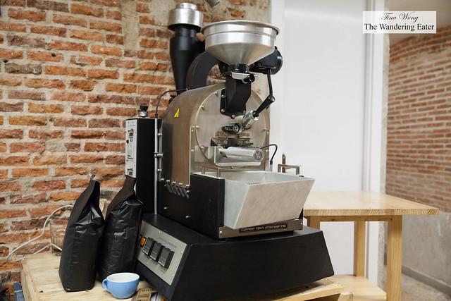 Roasting machine (located downstairs)