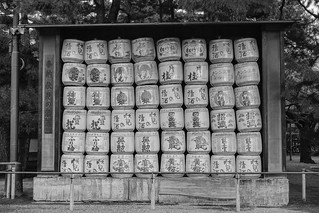 Detail of Sake barrels at Japanese temple | by phuong.sg@gmail.com