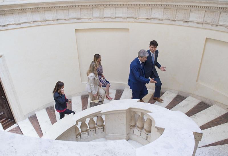 Gentiloni a Villa Madama con il Primo Ministro canadese Justin Trudeau