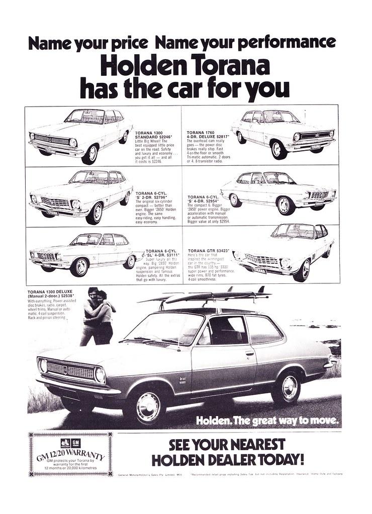 1973 LJ Holden Torana Range Aussie Origial Magazine Advert… | Flickr