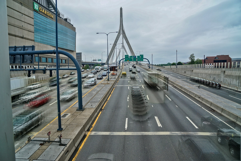 Traffic | Boston traffic rushing by the TD Garden onto and o… | Flickr