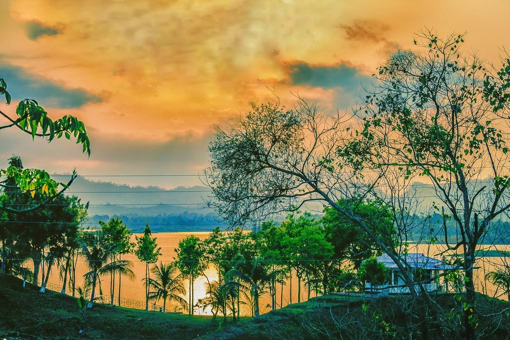 Sunset at Jibtoli, Kaptai! Beautiful Bangladesh