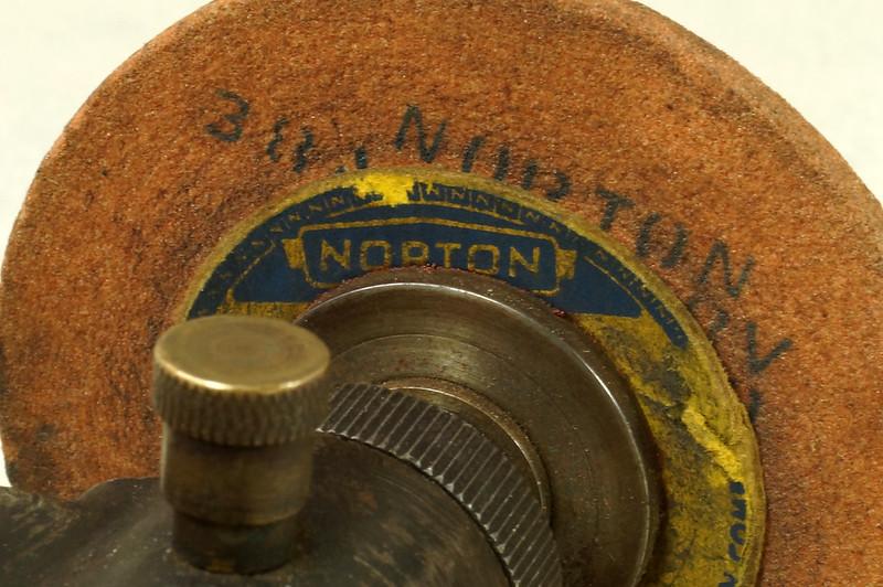 Sold Antique Belt Driven Bench Grinder W Oilers