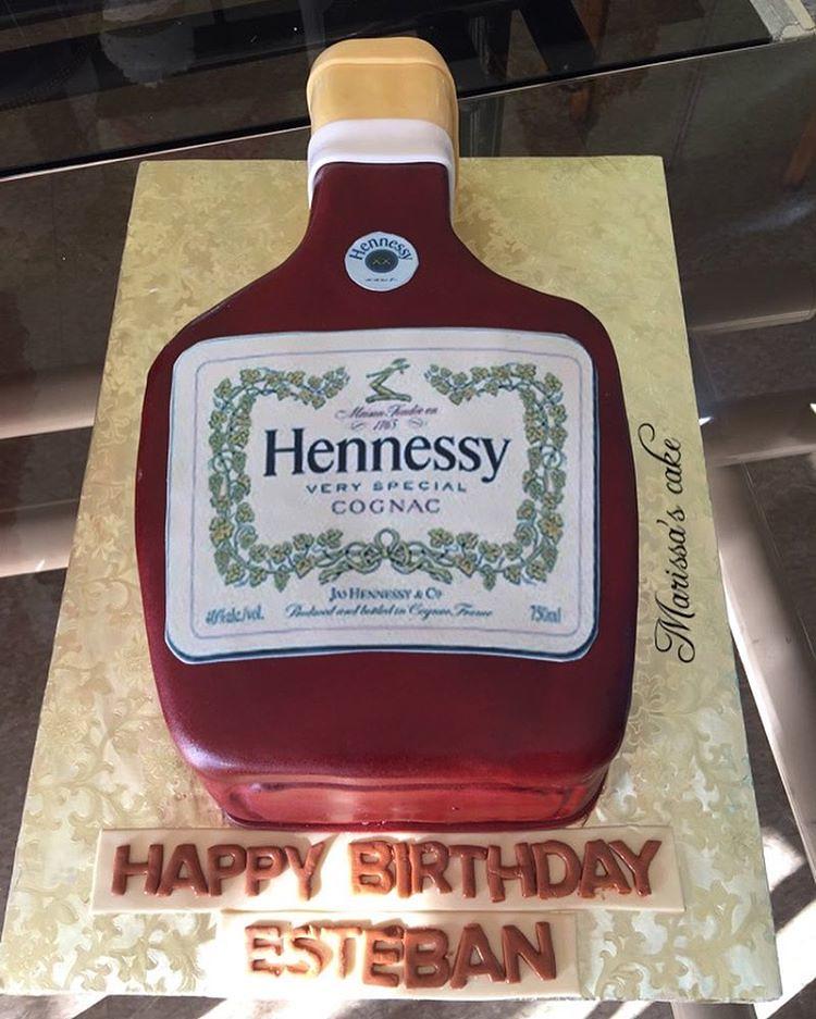 Awe Inspiring Hennessy Birthday Cake Cake Cakeart Caketheme A Flickr Funny Birthday Cards Online Alyptdamsfinfo