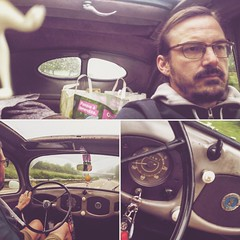 A misty Saturday morning when I was driving to Fredi's place - but soon the sun has appeard and the day didn't looks as unfriendly as I did :smirk: :joy:  #ragtop #bug #standard #ontheroad #driving #misty #morning # #:thumbsup: