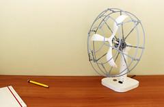 Caged Desk Fan by Grant Davis.