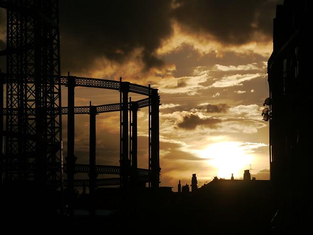 Sunset on Broadway Market - East London