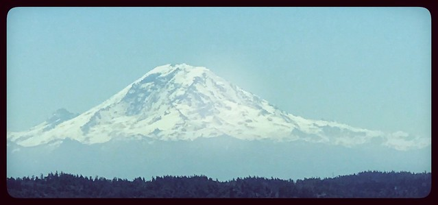The beautiful mount rainier and I get to see this daily less then a block away. Getting busy on the house and doing painting outside today. Everything is pulling together nicely. I am running on 4 1/2 hours of sleep and got some errands done today.