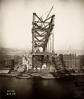 The Newcastle side of the Tyne Bridge