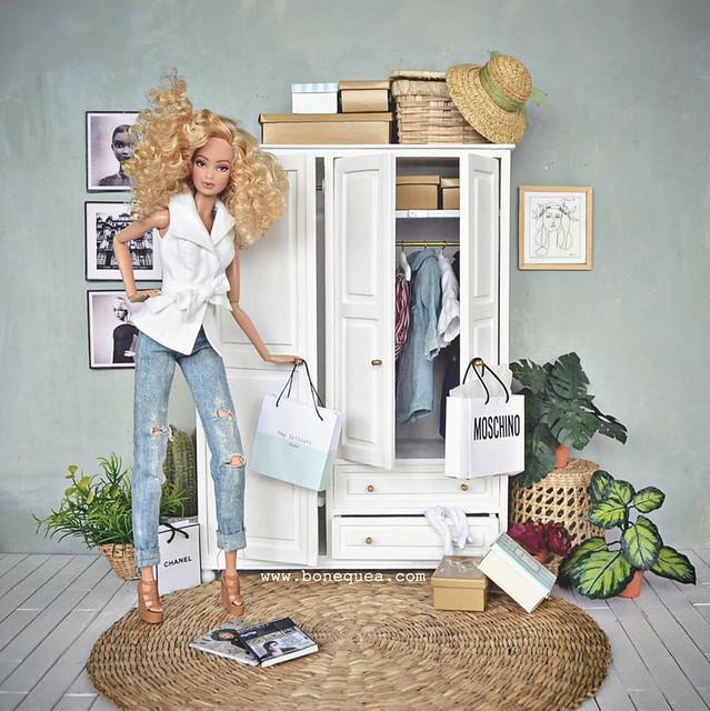 Barbie Ooak & Armario de As Miniaturas do Tocas