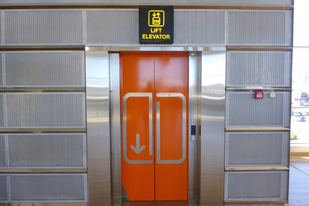 New KONE elevator in terminal in Tallinn Estonia | this is a