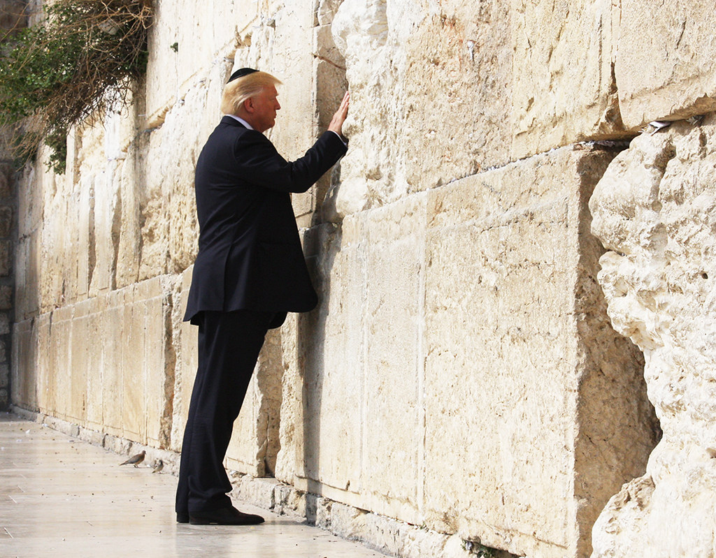 President Trump at the Western Wall