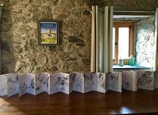 Wales: my Whitesands sketchbook in St Davids apartment | by Laura Frankstone