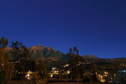 earl goedvolk cotacachi ecuador night stars volcano mountain sky