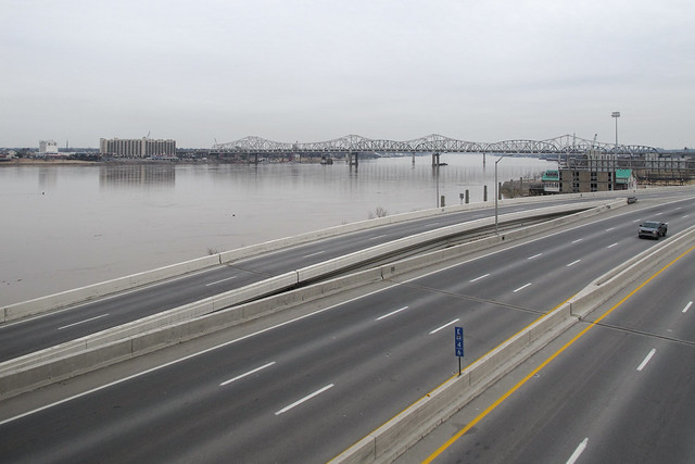 The two biggest and best things in Louisville: Interstate 64 and the Ohio River.