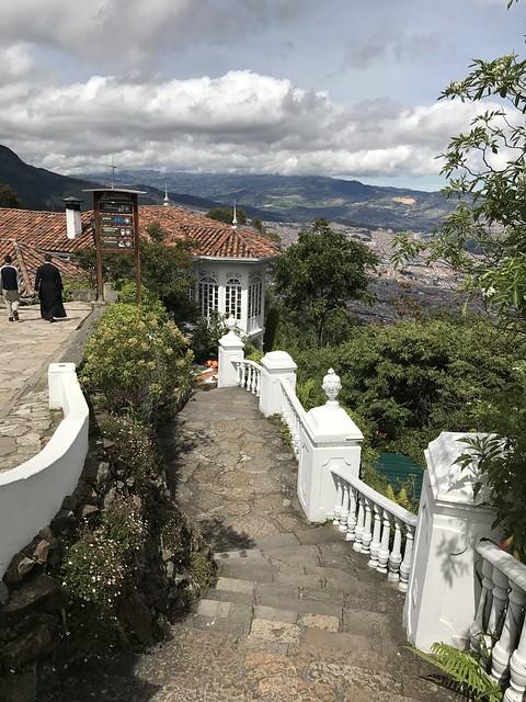 El Cerro Monserrate, Bogotá, Colômbia.