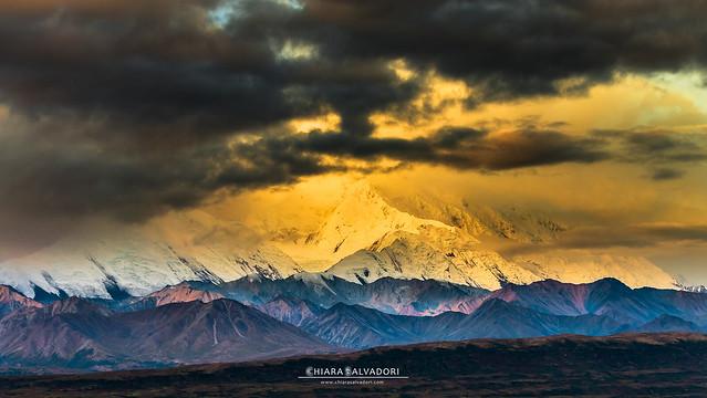 Mount Denali at the first light