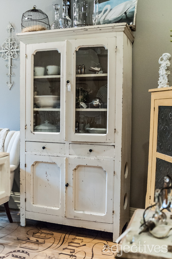 Vintage White Hutch by Maine Street Vintage at Adjectives Winter Park