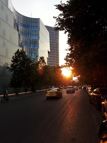 tirana albania albanian tirane sunset nature architecture plaza cityscape