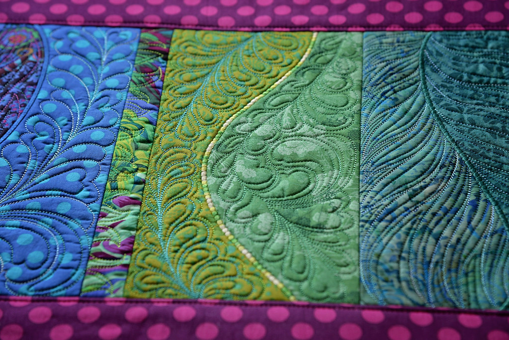 free form machine embroidery  collage freeform table runner sweetpea designs machine emb ...