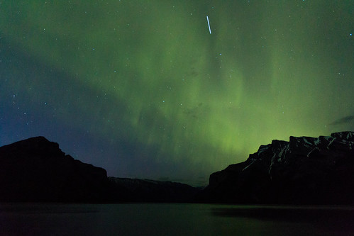 Aurora and International Space Station   by cec403
