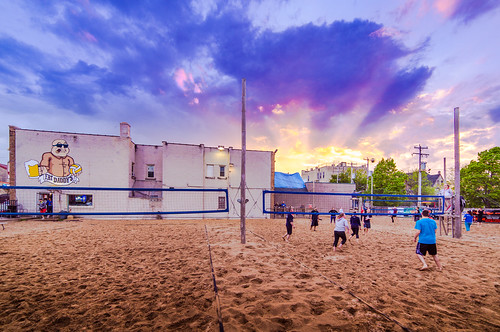 Heavenly Sunset on Volleyball | by VBuckley.com